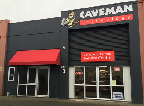 The Caveman Building Frontage